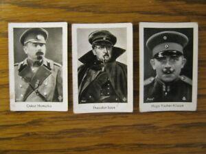 3 Sammelbilder  Oskar Homolka, Theodor Loos, Hugo Fischer-Köppe  Josetti
