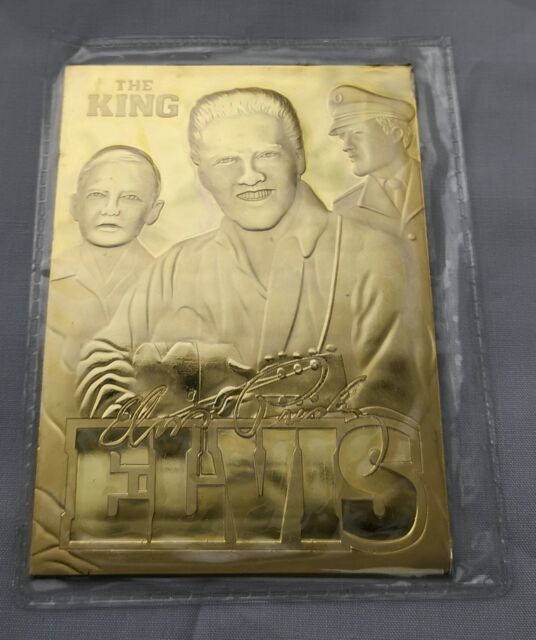 Elvis Presley Gold Card Signed contains 500 mg of Pure Solid Gold Viva Las Vegas