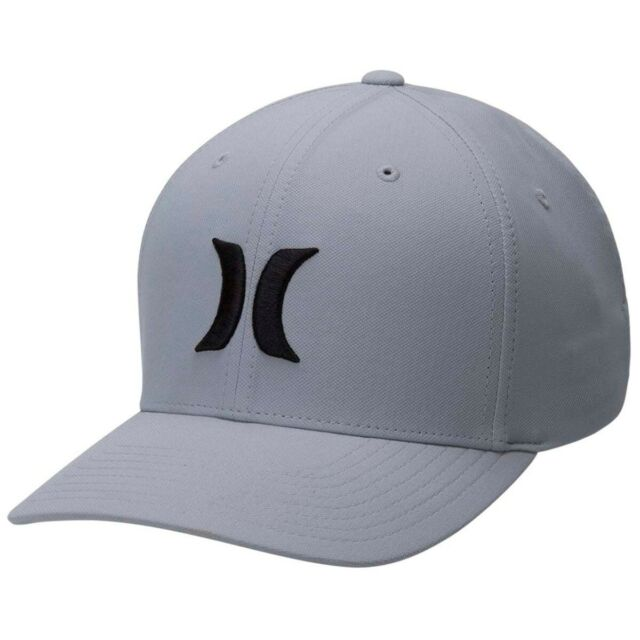 3d1177a02 Hurley NEW Men's Dri-Fit One & Only 2.0 Cap - Wolf Grey / Black BNWT