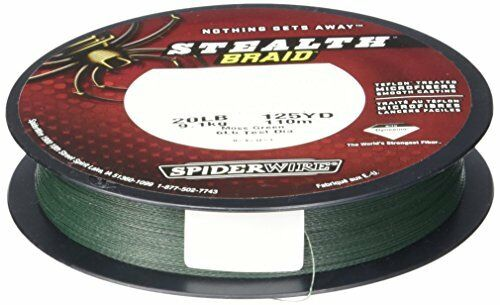 SPIDERWIRE STEALTH BRAID verde 0,40mm59,4kg500m Intrecciato Corda
