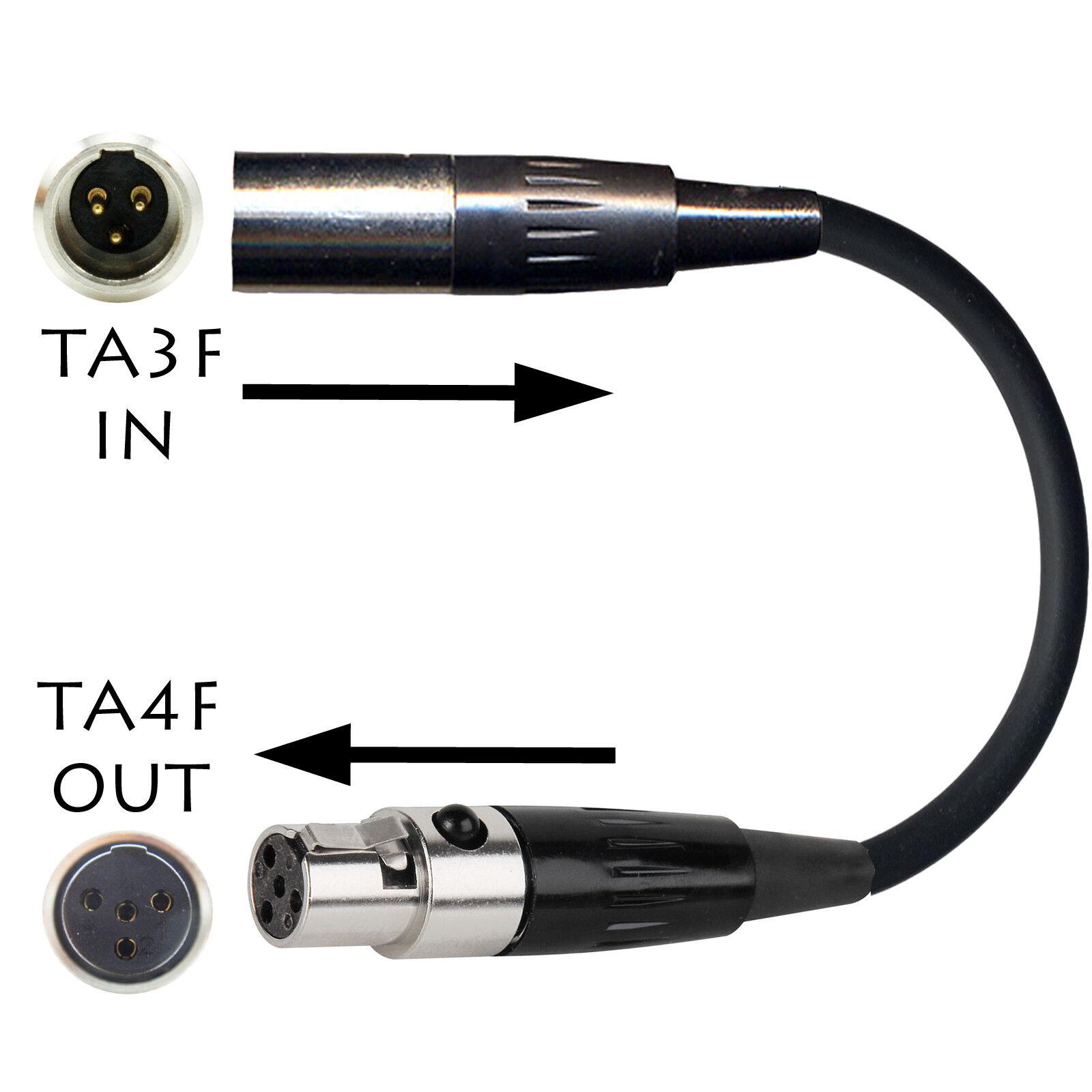 4 pin hirose female to mini xlr 3 pin audio adapter cable lead TA3f 10cm-10m XLR