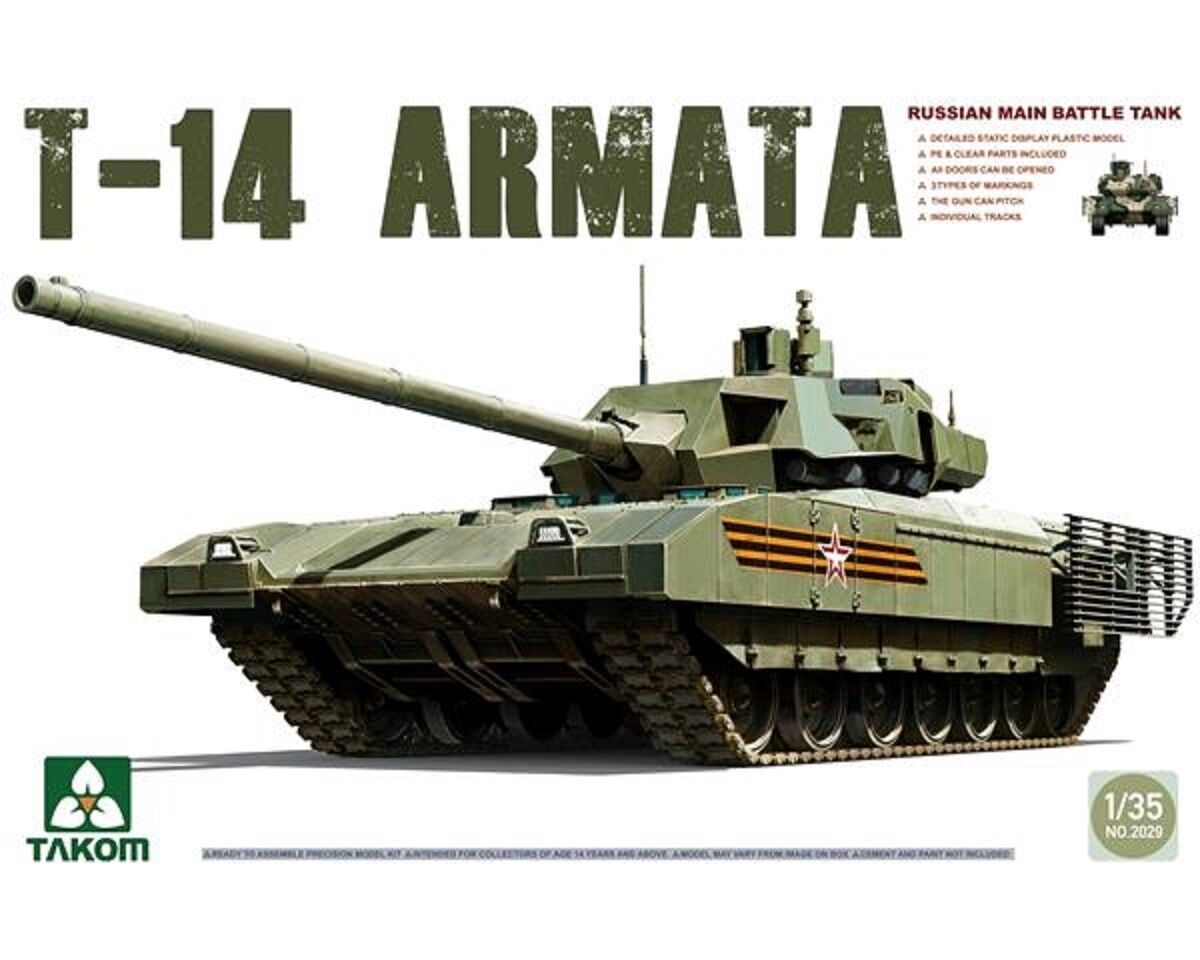 TAKOM RUSSIAN MAIN BATTLE TANK  T-14 ARMATA 1 35 COD.2029  10 jours de retour