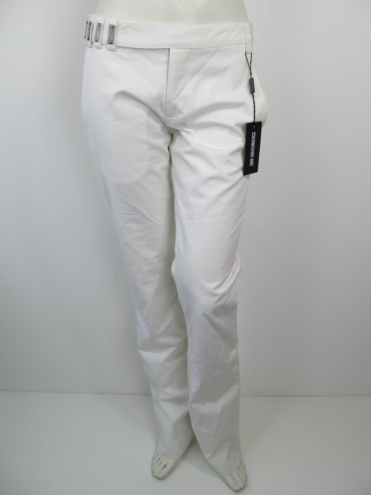Dirk Bikkembergs Damen Hose Pantalon Pants Weiss De 34  IT 40