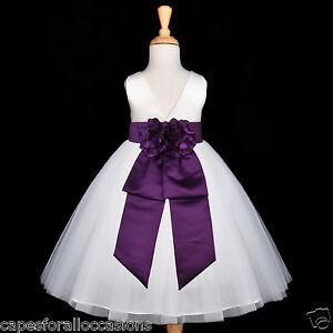 WHITE-WEDDING-FLOWER-GIRL-DRESS-PARTY-12M-18M-2-2T-3-3T-4-4T-5-5T-6-6X-7-8-9-10