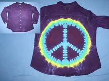 Tie Dye Woman XL Dress Shirt  Mullet: business front party back Purple LS