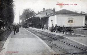 CPA-11-LEZIGNAN-LA-GARE-train-en-gare