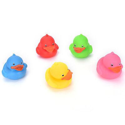 Gelb Mini Bathtime Gummi Ente Bad Squeaky Wasser Spielen Spaß Kinder