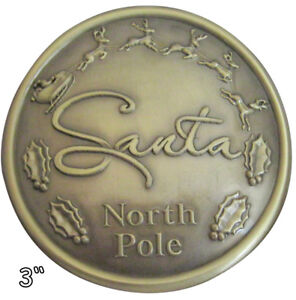 "5 1//2/""  SANTA CLAUS BELT BUCKLE BRIGHT GOLD FINISH   FITS 4/""  BELT"