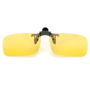 94971070037 Polarized Night Vision Flip-up Clip-on Lens Driving Glasses ...