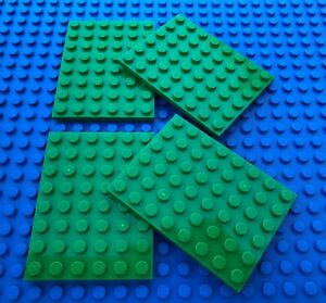 Lego 8x6 Grey Base Plates City Town Pirates Castle