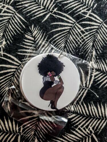 Pendientes de Mujer africana África étnico tribal afro de madera joyería
