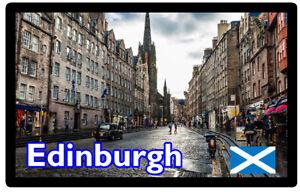 EDINBURGH-SCOTLAND-SIGHTS-SOUVENIR-NOVELTY-FRIDGE-MAGNET-GIFTS-FLAGS-NEW