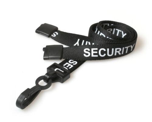 Security Lanyard Neck Strap Safety Breakaway Black Plastic Clip FREE P/&P Lot