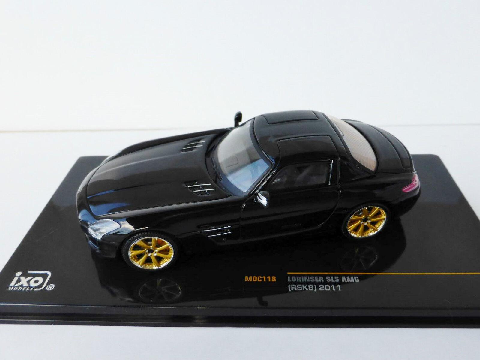 Seleccione de las marcas más nuevas como Lorinser SLS AMG Rsk8 2011 1 43 Ixo Ixo Ixo Moc118 Mercedes-Benz Negro, Mercedes  cómodo