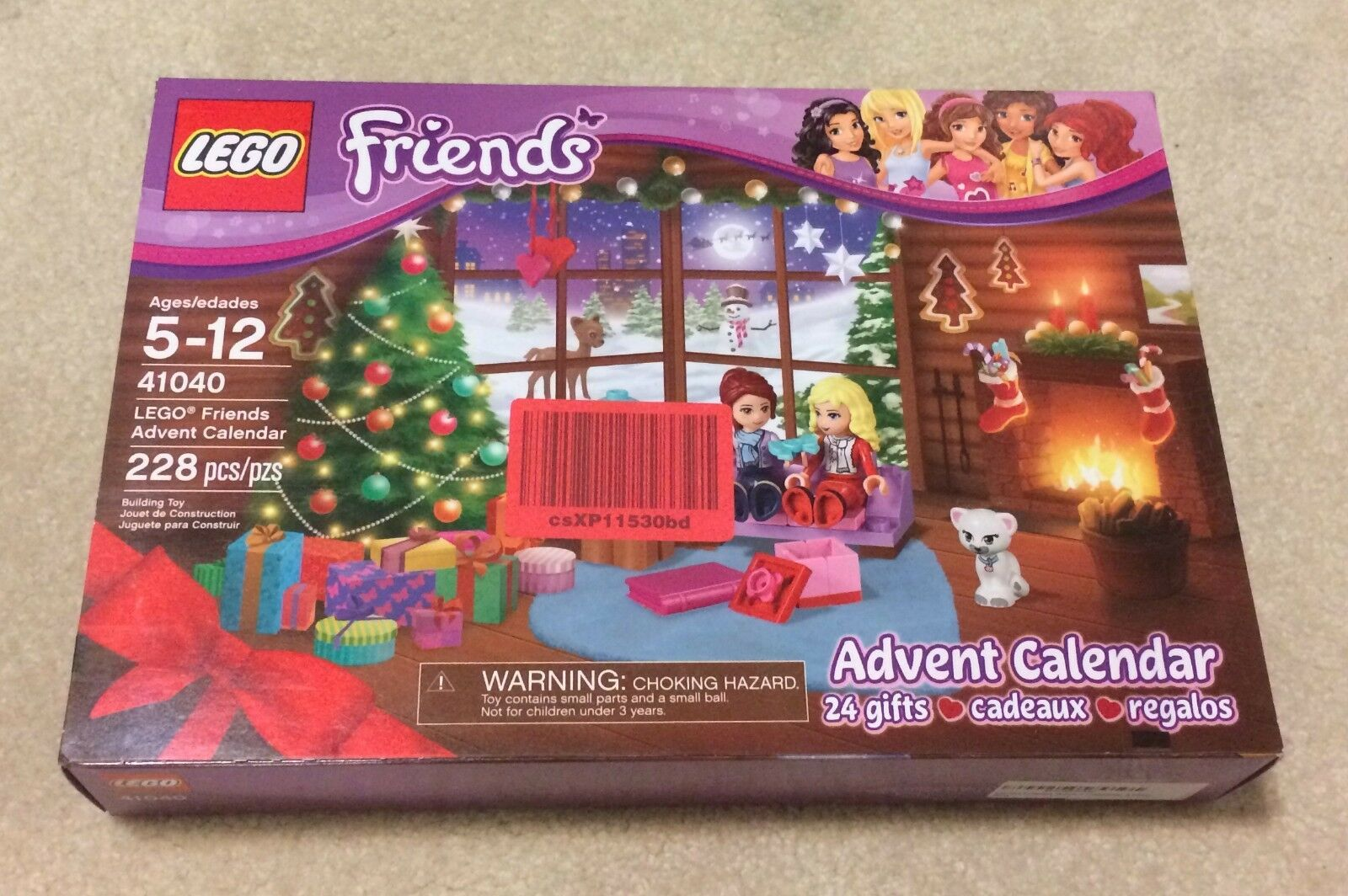 2015 LEGO Friends  41040 ADVENT CALENDAR 228 Pcs Nib 24 Gifts NEW SEALED  New in