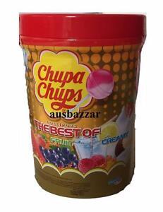 CHUPA-CHUPS-100-Best-Lollipops-Assorted-Flavour-Bulk-Lollies-Jar-3-New-Flavours