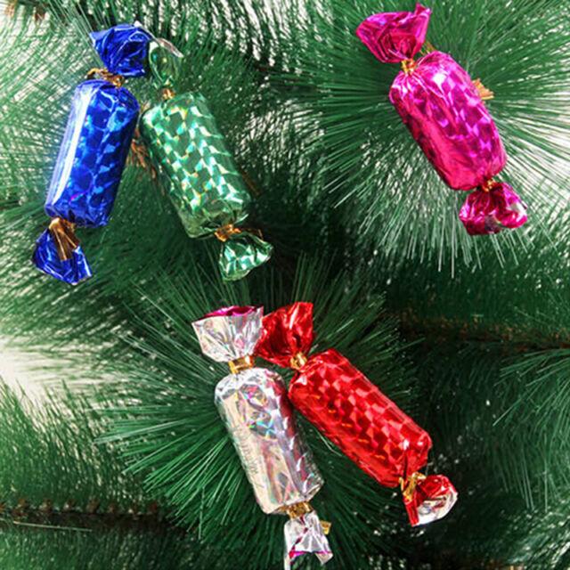 Cute Christmas Candy Mini Tree Ornaments Home Decoration 12pcs NF