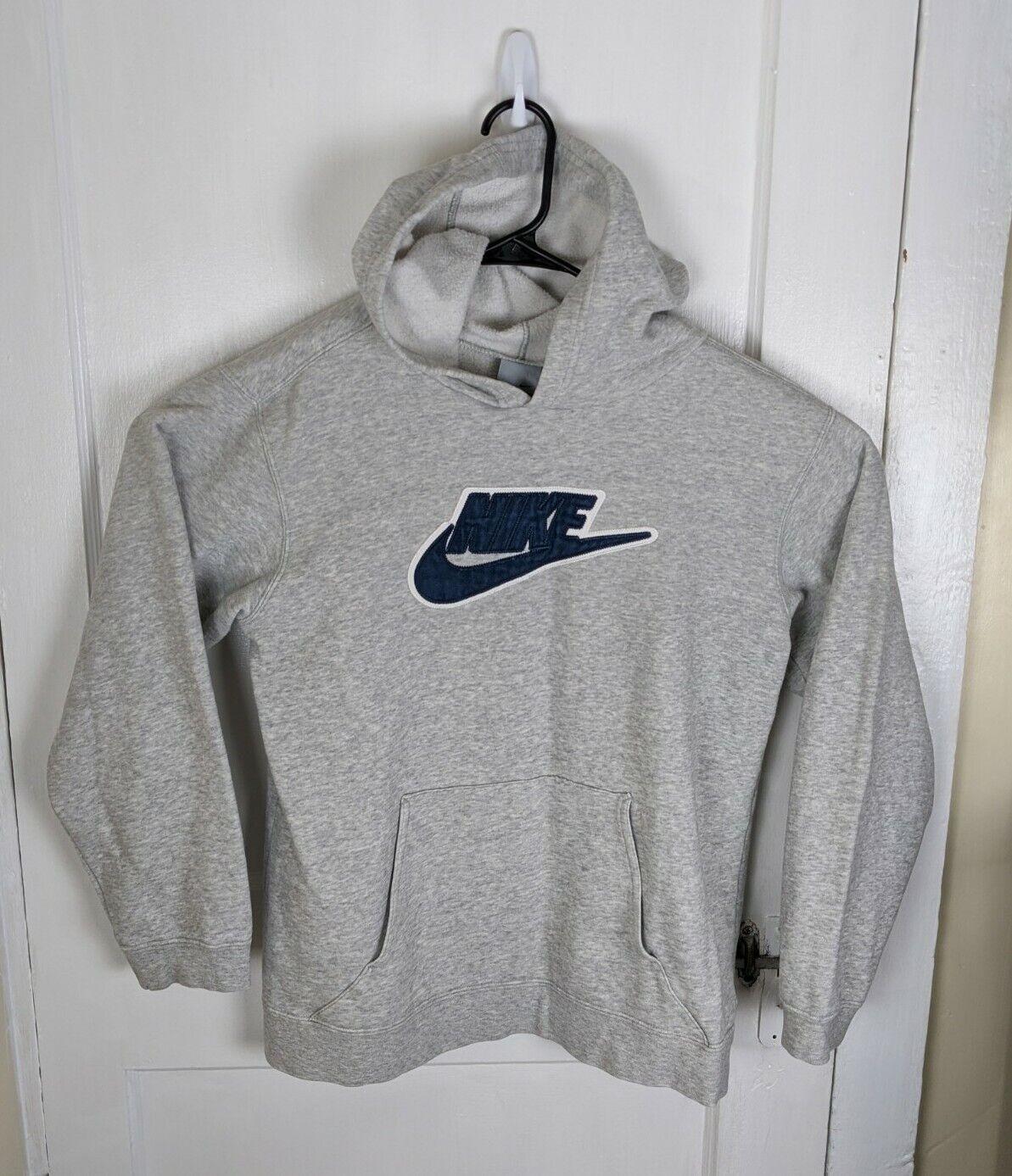 Vintage Nike Gray Tag Hoodie Stitched Swoosh Men … - image 1