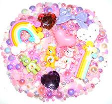 Candycabsuk cuidado lindo oso nube de Arco Iris Teléfono Cubierta Kit + free Perlas de 10g hágalo usted mismo