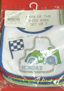 Baby-039-s-Bibs-Pack-x-7-Days-of-the-week-plus-extra-one-BNWT