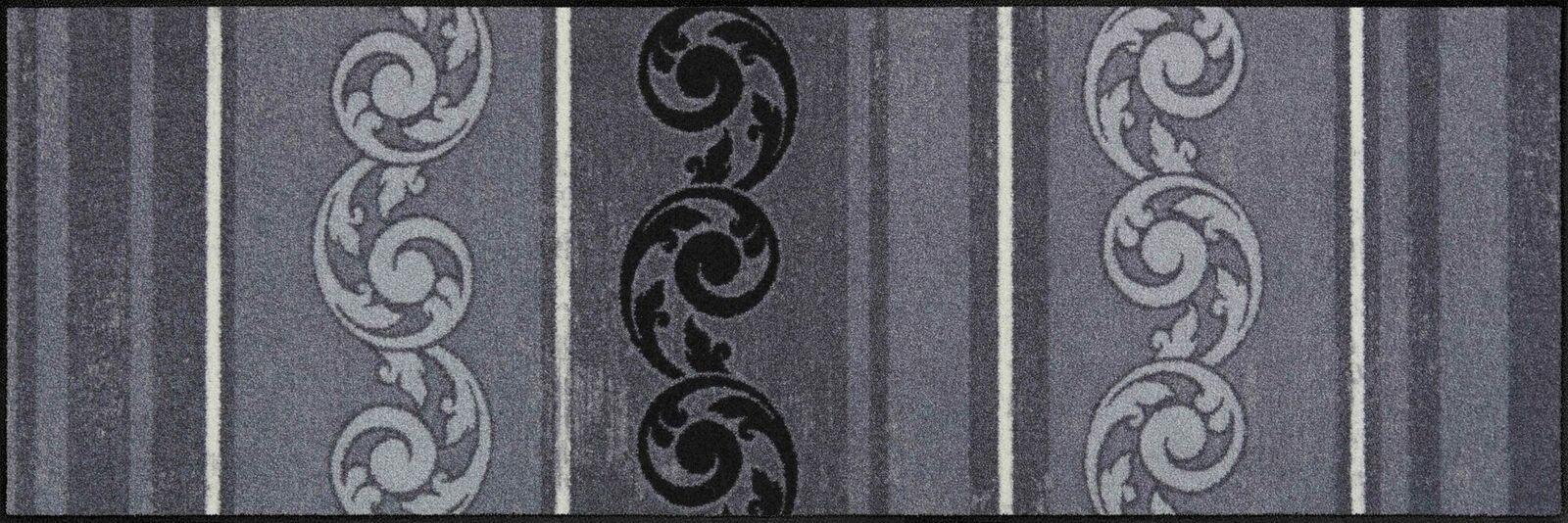 Salonloewe Salonloewe Salonloewe Fußmatte Arabeske Grau waschbare Schmutzmatte Türvorleger Hauseingang 981b25