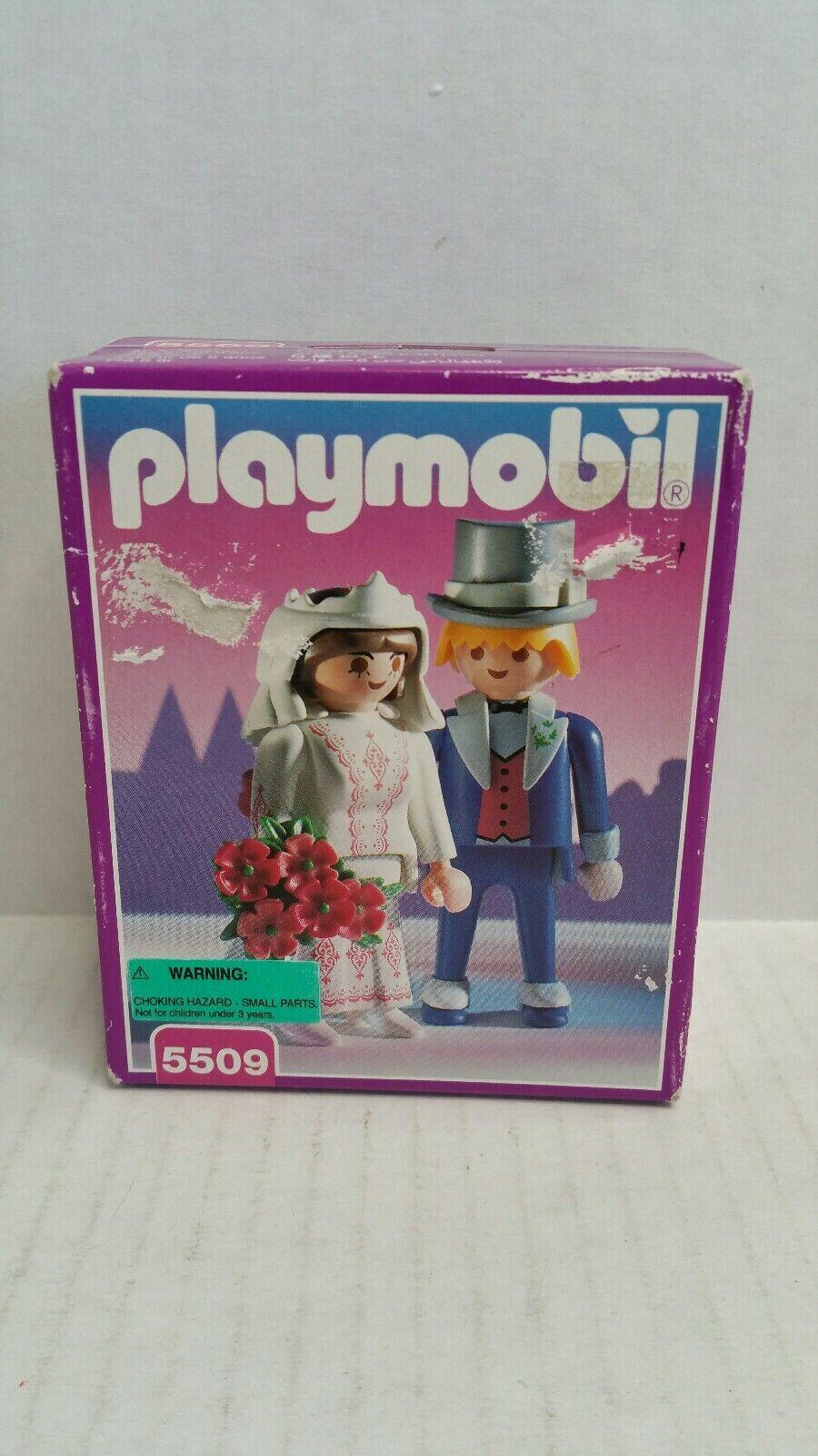 Vintage Rare Playmobil Victorien Mariage Mariée  et marié 5509 Neuf sous emballage 1995  produits créatifs