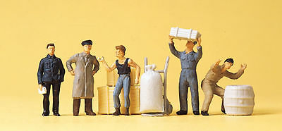 Preiser 14147 HO 1/87 At the Goods Shed Set of Figures/People