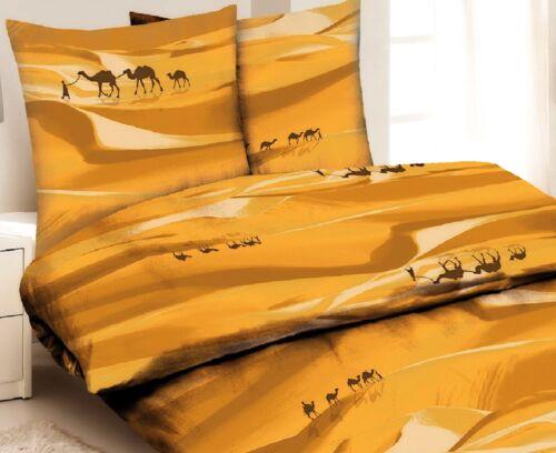 4tlg Mikrofaser Bettwäsche Set Tier Natur Kamel Wüste Sand SAHARA 135x200 cm NEU