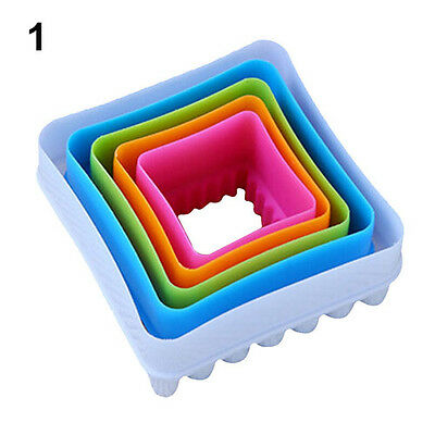 Modish Goodly 5Pcs Fondant Cake Cookie Sugarcraft Cutters Decorating Molds Tool
