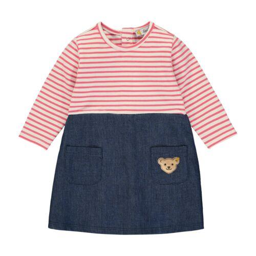 68-80 NEU STEIFF Baby Mädchen Kleid L002011108 pink//blau Jeanskleid Gr