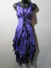 Dress Fits XL 1X 2X Plus Purple Corset Lace Up Waist Layered Pixie Hem NWT G209