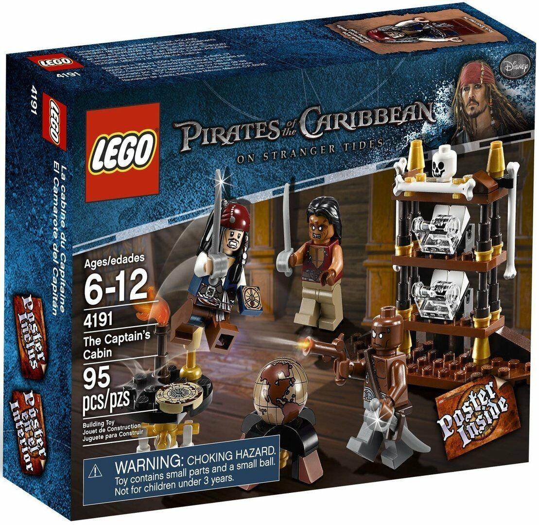 LEGO Pirates of the autoibbean  4191 capitano cabina ALT Exclusive  confortevole