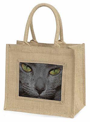 grau Katzen Gesicht Nahaufnahme Große natürliche jute-einkaufstasche