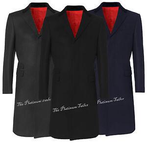 Men-Classic-Wool-Overcoat-Velvet-Collar-Red-Lining-Long-Covert-Coat-Cromby-Mod