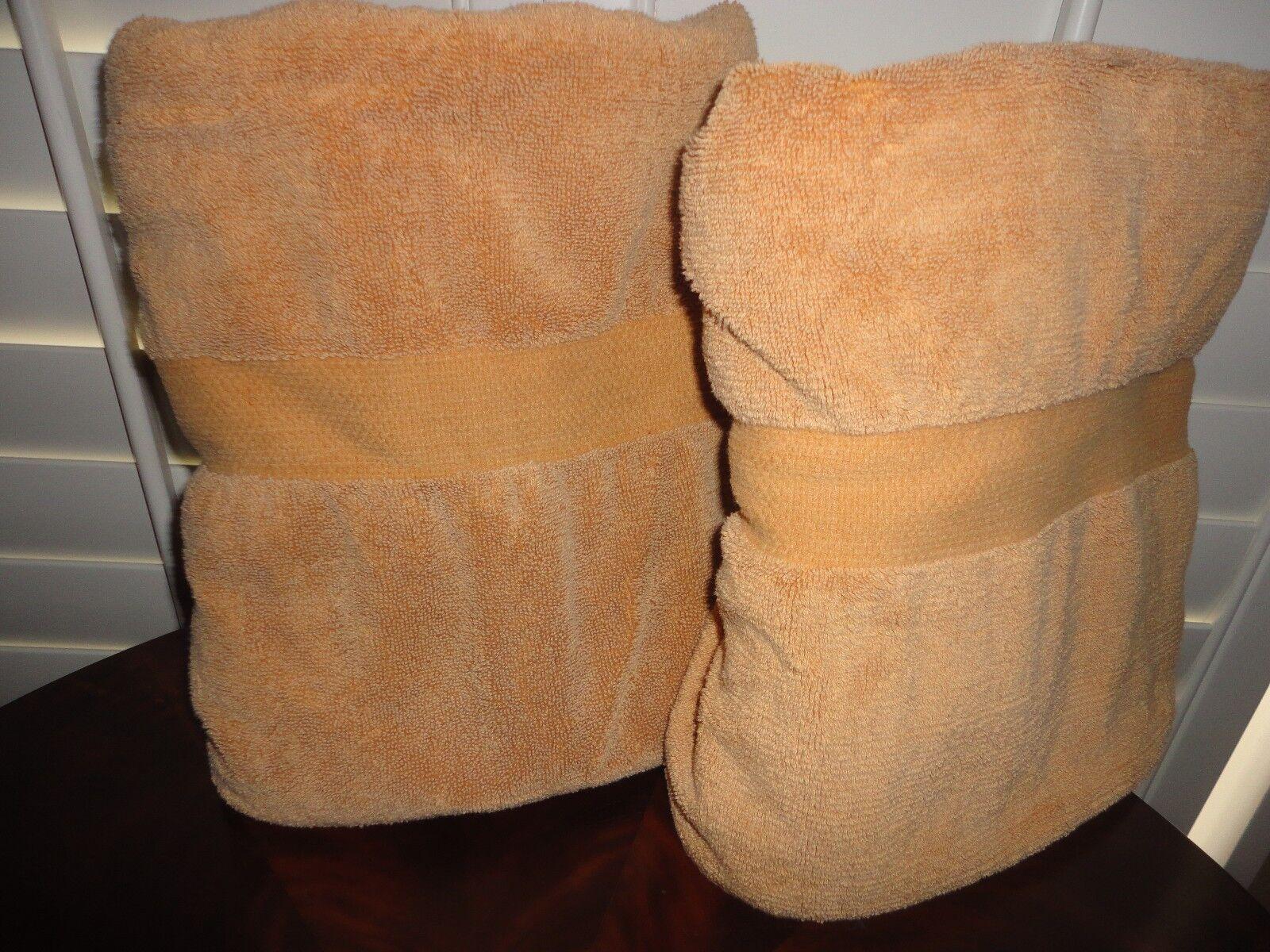 VINTAGE RALPH LAUREN AVENUE HONEY AMBER (2PC) SET BATH TOWELS TOWELS TOWELS 28 X 48 aeee15