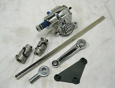 5 Piece KIT Mustang II MANUAL 3 U Joint Steering Shaft Support Kit Stainless SS