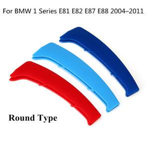 FUR-BMW-1ER-E81-E82-E87-E88-2004-2011-M-Kuehlergrill-Streifen-Nieren-Abdeckung