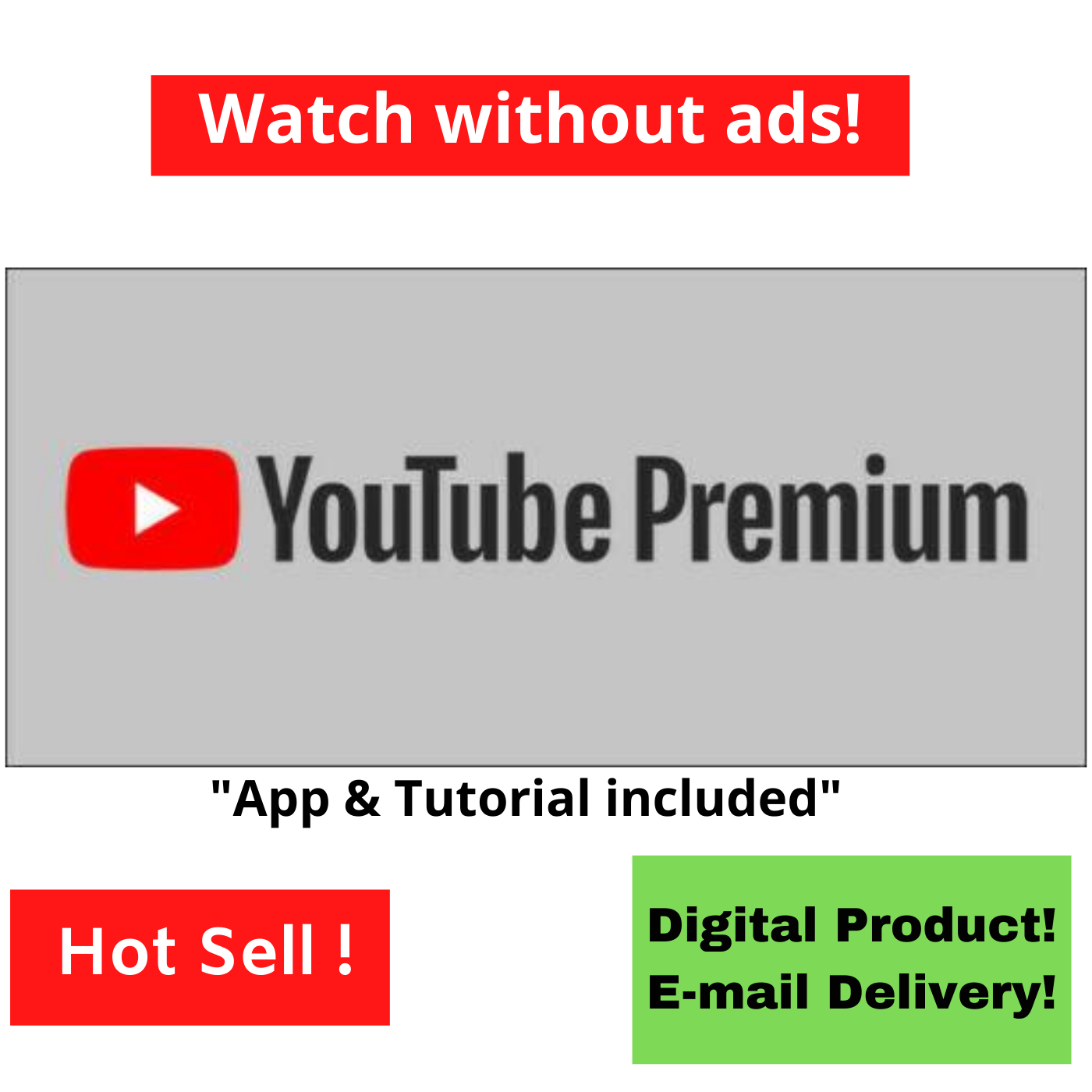 YouTube Watch NO ADS / ANDROID ONLY APP DOWNLOAD