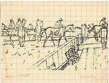 MAURICE BRIANCHON / EPREUVE D'ARTISTE POUR SES VOEUX POUR 1962