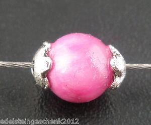 500-Antiksilber-Blume-Perlen-Beads-Ende-Kappen-4mm-fuer-5-6mm-Beads