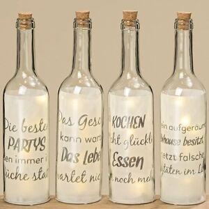 Led Deko Flasche Kuche Dekoration Geschenk Geburtstag Wohnen 8011100