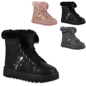 Details zu Damen Stiefeletten Winter Boots Warm Gefütterte Outdoor Schuhe 824514 Trendy Neu