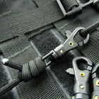 10x 360°Rotating Outdoor Carabiner Mini Parachute Cord Hang Buckle Quickdraw CA