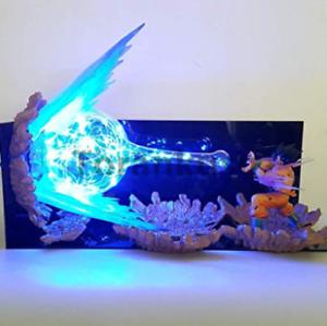 Dragon Ball Z Son Goku Spirit Bomb Blue Led Base Diy Set Night Lights Anime Dragon Ball Super Dbz Led Table Lamp Christmas Decor Led Lamps Lights & Lighting