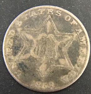 1858-3-Three-Cent-Silver-Rare-Estimate-5-000-Survive
