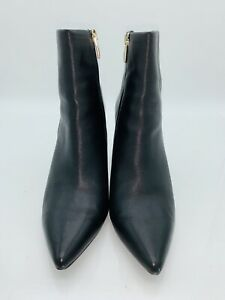 a18a72c1d37 STEVEN by Steve Madden Leila Booties Short Boots Black Leather Size ...