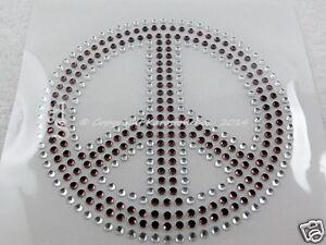 Hotfix Strass Bügelbild Glas Applikation Peace 110419 gef. Farbe Karostonebox