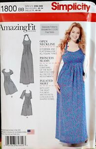 Simplicity-1800-Amazing-Fit-Collection-Dress-Princess-Seams-Two-Lengths-Personal