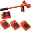miniature 1 - Kit sollevatore sposta mobili solleva ruote piastre trasloco spostare sollevare