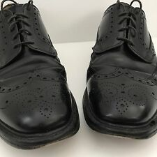 LOAKE Men's Braemar Brogue Black Polished Shoes size UK 9 1/2 approx US 10